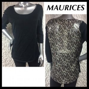 🎀SALE🎀 MAURICES Semi Sheer Back Top